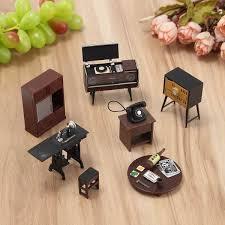 mini doll house furniture. 7pcsset wooden diy 112 simulation miniature dollhouse furniture mini set for doll house l