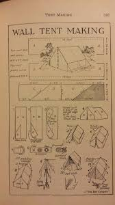 small wall long wide wall tent making handbook for patrol leaders 1949