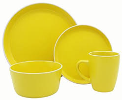 oven safe dinnerware. Perfect Dinnerware Melange Stoneware 16Piece Dinnerware Set Moderno Sunflower  Service For  4 With Oven Safe