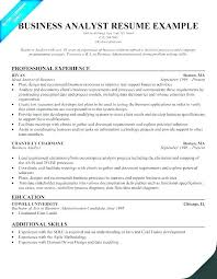 Agile Business Analyst Resumes Analyst Sample Myperfect Business Cv Template Senior Lytte Co