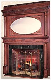 mantles of yesteryear antique reion mantle with mirrored over mantle