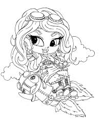 monster high baby coloring pages printable