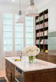 lighted glass kitchen cabinet with glass shelves