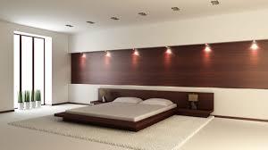 furniture minimalist dark brown polished bedroom headboard lighting