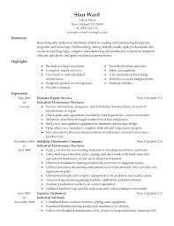 Maintenance Job Resume Objective Maintenance Resume Objective Examples Ideas Of Resume Objective For