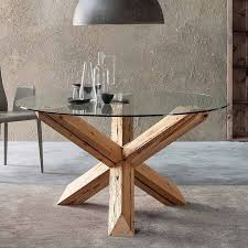 amazing round glass dining tables top uk with wood bases large with wooden leg under chandelier