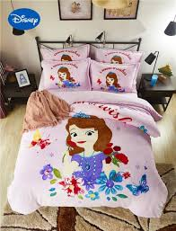 hot disney sofia princess 3d printed flannel bedding sets twin full queen size bed covers g