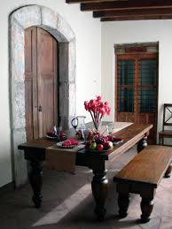 rustic spanish furniture. Curved Style Table And Bench Rustic Spanish Furniture I