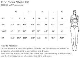 Stella And Dot Clothing Size Chart Aerial Tunic