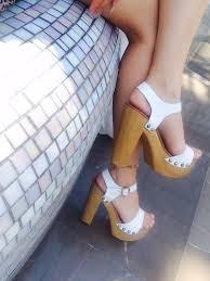shoes white high heels chunky heels wooden wedges wooden heel wooden platforms windsor smith white platform