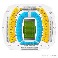 Jones At T Stadium 2019 Seating Chart