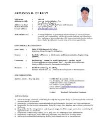 42 Inspirational Latest Curriculum Vitae Format | Resume Template