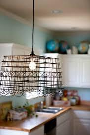 Wire basket chandelier 43