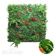 wonderwal artificial green wall screening multi leaf with hibiscus 100cm x 100cm