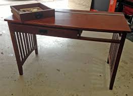 stunning natural brown wooden diy corner desk. DIY Computer Desk From An Old, Broken Foyer Table | Upcycling JenuineMom.com Stunning Natural Brown Wooden Diy Corner