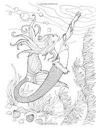 Small Picture Kleurplaat zeemeermin Realistic mermaid coloring pages download