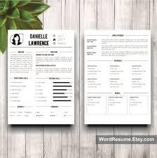 Modern Resume Template Cover Letter Word Danielle Cover Letter