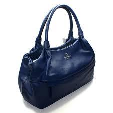 home kate spade stevie grant park navy blue leather shoulder bag