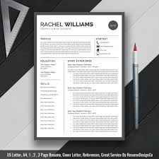 Professional Creative Resume Template Cv Template Mac And Pc Ms