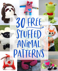 Design A Stuffed Animal Free Online 30 Free Stuffed Animal Patterns With Tutorials To Bring To Life