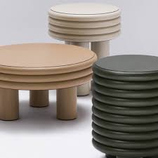 furniture table design. Stéphane Parmentier Upholsters Chubby Furniture Collection In Leather Table Design