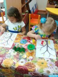 Младшая группа Ранний возраст ясли Дети лет Воспитателям  Конспект занятия по рисованию во второй младшей группе Осенний листопад