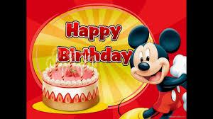 Hát chúc mừng sinh nhật cùng chuột Mickey - YouTube