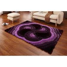 casa regina gy collection 3d design abstract fl spiral swirl purple soft 5 ft x 7 ft area rug