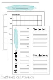 Sample College Class Schedule 10 Ways To Help Your Teen Get Organized For School Kids Activities