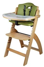 beyond junior y wooden high chair natural olive cushion