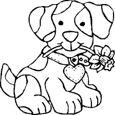 Small Picture Dog Coloring Pages for Kids kids world