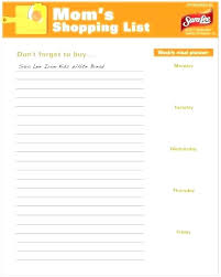 Thanksgiving Grocery List Template The Hour Thanksgiving Grocery List Spice Printable Template
