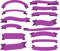 Purple Ribbon Banner Classic Violet Ribbon Banner Collection Free Vector In Adobe