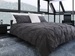 beautifull pintuck duvet cover for your furniture ideas modern bedroom design with black bed and