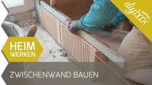 Damit die fußbodenheizung optimal funktioniert, kommt es auf den richtigen aufbau des fußbodens an. Zwischenwand Bauen Nicht Tragende Wand Mauern Youtube