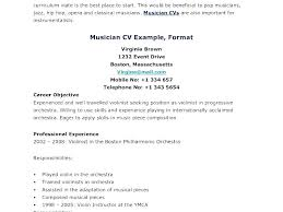 Music Resume Template Musicians Resume Template Musician Resume Unique Musician Resume
