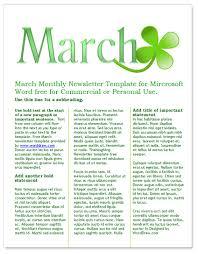 free microsoft word newsletter templates spring themed newsletter template worddraw free microsoft word