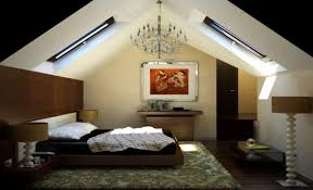 Attic Bedroom Bedroomelegant Attic Bedroom With Very Sloping Roof Design Idea