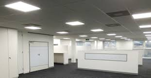 lighting in an office. LED Lighting | Office Refurbishment Sussex Surrey Hampshire London Kent In An