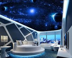 Space Bedroom Wallpaper Online Buy Wholesale Ceiling Wallpaper Galaxy From China Ceiling