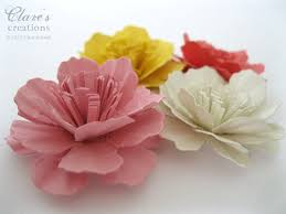 Paper Carnation Flower Paper Carnation Flower Tutorial Video Clares Creations 3 D
