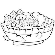 Fruit Salad Coloring Page Fruit Salad Shopkin Free Coloring Page