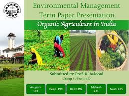 em term paper organic farming in