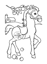 Small Picture Funny Horse coloring page for kids animal coloring pages