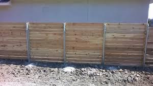 horizontal wood fence with metal posts. Modren Horizontal 4u0027 6u0027 Tall Horizontal 1x6 Cedar For Wood Fence With Metal Posts L