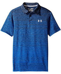 under armour shirts for boys. under armour kids trajectory stripe polo (big kids) shirts for boys