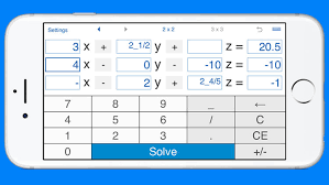 system of linear equations solver and calculator for solving systems of linear equations with three variables