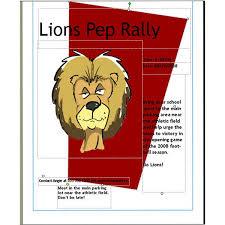 Rally Templates Pep Rally Flyer Template Sports Pep Rally Flyer For School Template