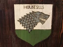 Game Of Thrones Stark House Crest Wooden Plaque Game of Thrones Stark House Direwolf Sigil Sign Wall Decor Wood 46