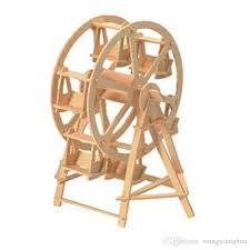 the simulation model of 3d assembled wooden puzzle diy for students children s educational toys 3d wooden puzzle toy ferris wheel